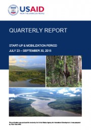 USAID LESTARI Quarterly Report: Start Up (July – September 2015)