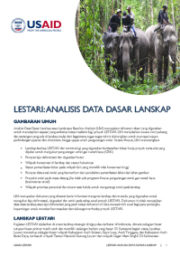 Analisis Data Dasar Lanskap