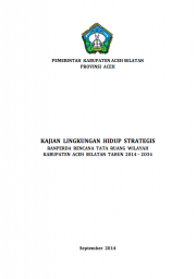 Strategic Environmental Assessments: South Aceh (Only Available in Bahasa Indonesia)