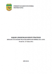 Strategic Environmental Assessments: Mimika – Papua (Only Available in Bahasa Indonesia)
