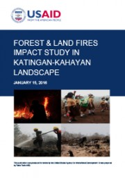 Forest Fire Impact Study in Katingan-Kahayan Landscape