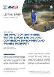 LESTARI Brief 02: The Impacts of Semi-Finished Rattan Export Ban on Land Conversion, Environment, and Farmers' Prosperity