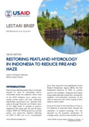 LESTARI Brief 04: Restoring Peatland Hydrology in Indonesia to Reduce Fire and Haze