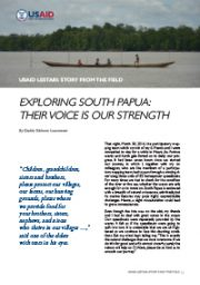 Story from the Field – Exploring South Papua: Their Voice is Our Strength