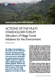 Story from the Field – Actions of the Multi-Stakeholder Forum: Allocation of Village Funds  Initiatives for the Environment