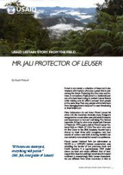 Story from the Field – Mr. Jali Protector of Leuser