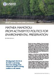 Story from the Field – Mathea Mamoyou: From Activism to Politics for Environmental Preservation