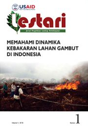 LESTARI Journal Vol.1 2016 – Memahami Dinamikan Kebakaran Lahan Gambut di Indonesia (Only Available in Indonesian)