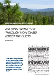 Story from the Field – Building Partnership Through Non-Timber Forest Product
