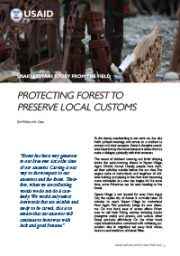Story from the Field – Protecting Forest to Preserve Local Customs