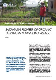 Story from the Field – Said Hasim, Pioneer of Organic Farming in Purwodadi Village
