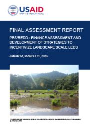 Final Assessment Report: PES/REDD+ Finance Assessment and Development of Strategies to Incentivize Landscape Scale LEDS (Hanya tersedia dalam Bahasa Inggris)