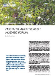 Story from the Field – Mustafril and the Aceh Nutmeg Forum