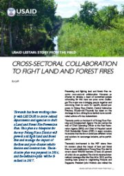 Story from the Field – Cross-Sectoral Collaboration to Fight Land and Forest Fires