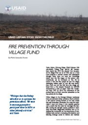 Story from the Field – Fire Prevention through Village Fund