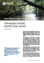 Story from the Field – Managing Water, Protecting Asmat