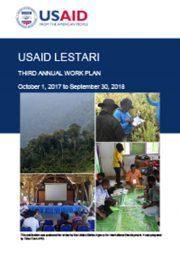USAID LESTARI Year 3 Work Plan (October 1, 2017 – September 1, 2018)