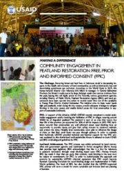 Making A Difference – Community Engagement in Peatland Restoration: Free, Priors and Informed Consent (FPIC)