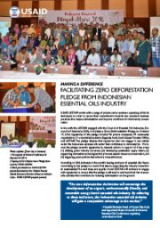 Making A Difference – Facilitating Zero Deforestation Pledge from Indonesian Essential Oil Industry