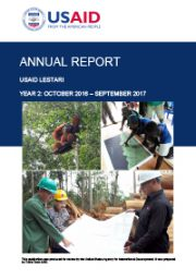 USAID LESTARI Annual Report: Year 2 (October 2016 – September 2017)