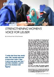 Story from the Field – Strengthening Women's Voice for Leuser