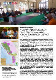 Making A Difference – A Commitment for Green Development Planning Across South Aceh Disctrict