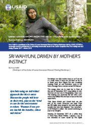 Story from the Field – Sri Wahyuni, Driven By Mother's Instinct