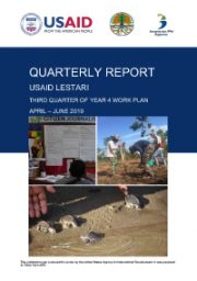 USAID LESTARI Quarterly Report: Third Quarter of Year 4 Work Plan (April – June 2019)