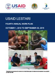 USAID LESTARI Year 4 Work Plan (October 1, 2018 – September 1, 2019)