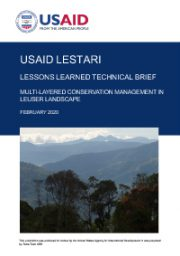 Lessons Learned Technical Brief: Multi-Layered Conservation Management in Leuser Landscape