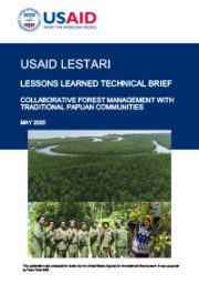 Lessons Learned Technical Brief: Collaborative Forest Management with Traditional Papuan Communities
