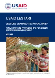 Lessons Learned Technical Brief: Public-Private Partnership for Green Enterprise Development